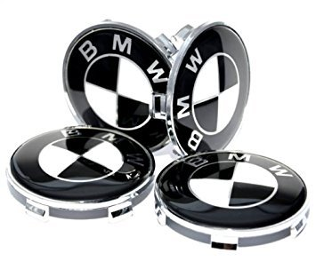 svart vita bmw centrumkåpor